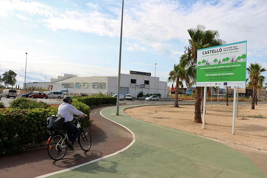 Nuevo rtamo de carril bici en Casalduch